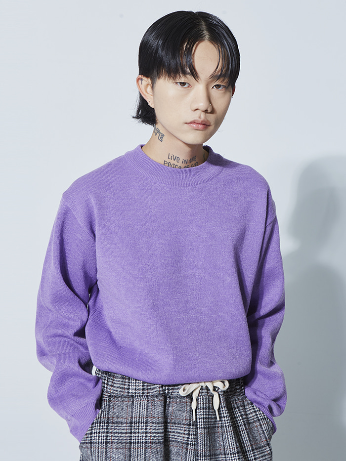 regular wool round knit (8 color) - UNISEX
