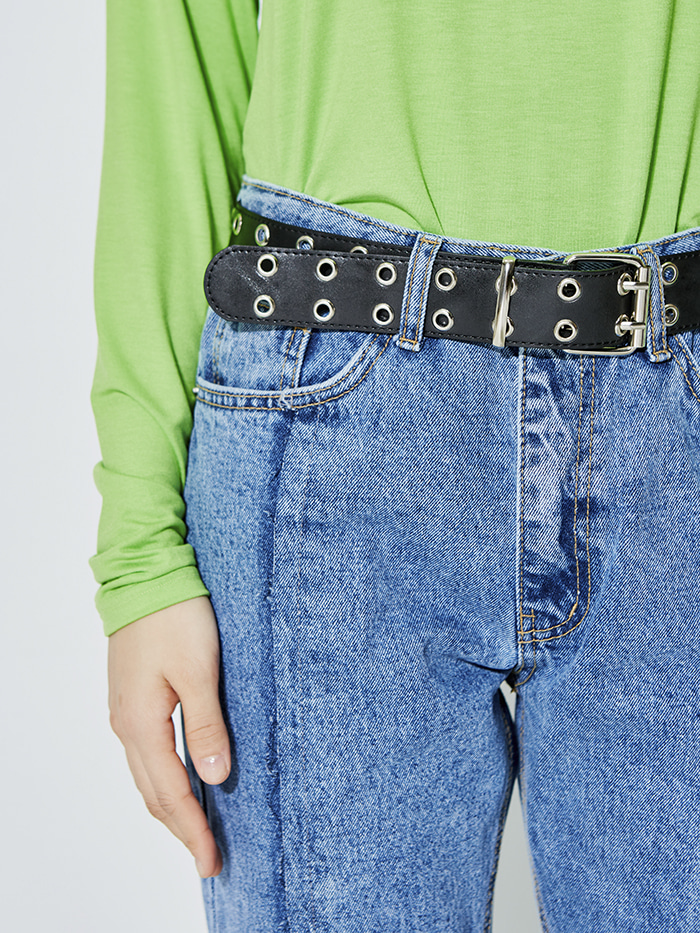 double loop eyelet belt (3 color)