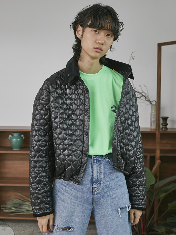 corduroy collar quilting jacket (2 color) - UNISEX