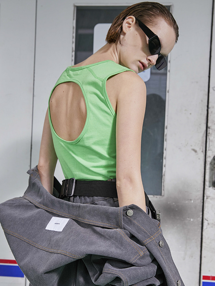 ACIDITY - BACK HOLE SLEEVELESS (GREEN)