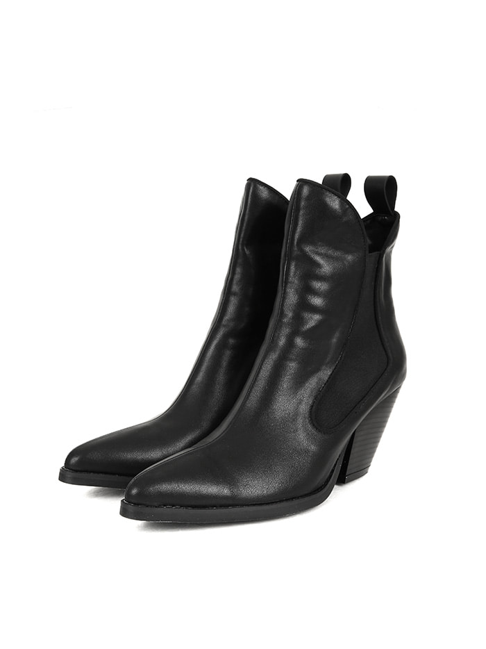 SALE leather western ankle boots (3 color)