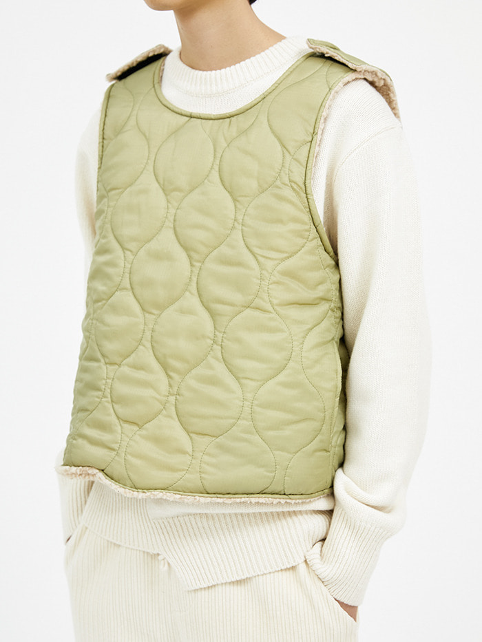 reversible quilting vest (2 color) - men