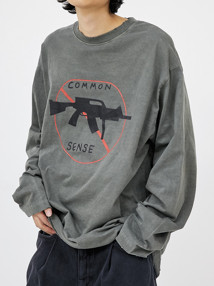 common damage dyeing T (2 color) - men