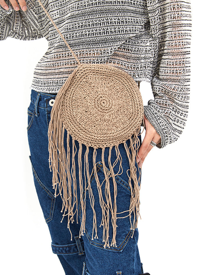 ethnic fringing bag (4 color)