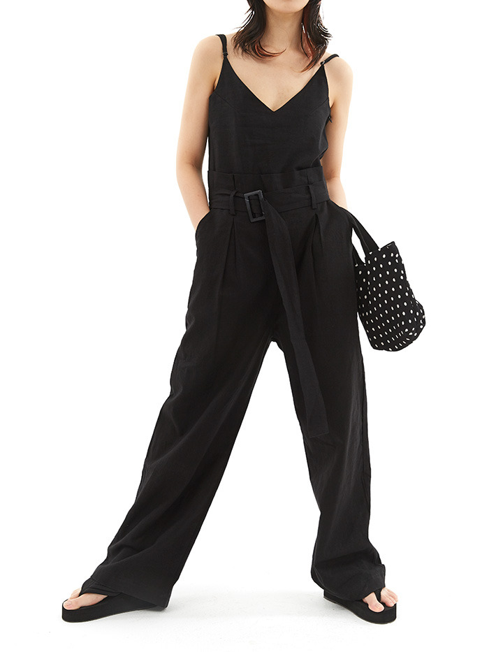 linen jump suit (2 color)