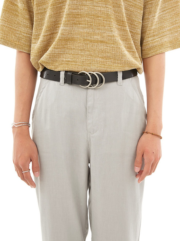 cow hide three circle belt (2 color)