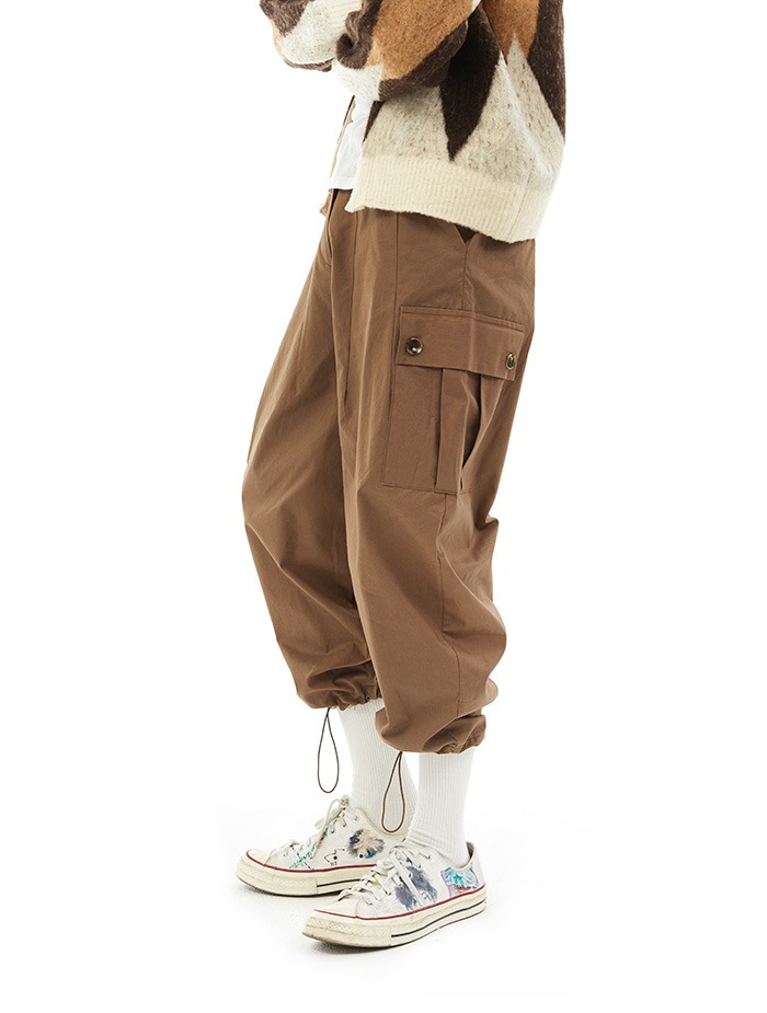 side pocket cotton jogger pants (3 color)