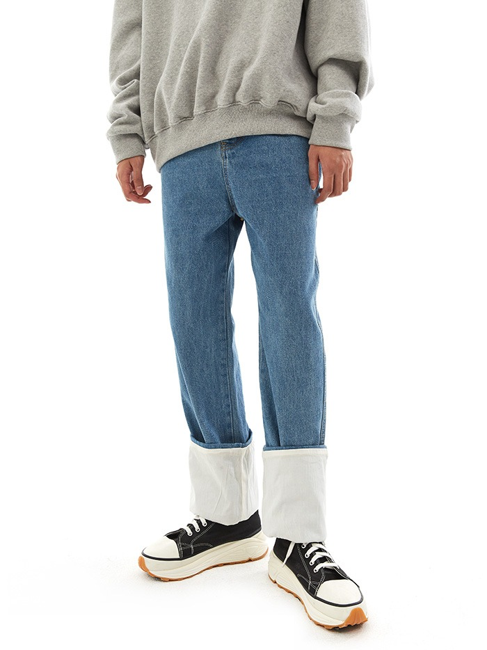 straight fisherman jeans