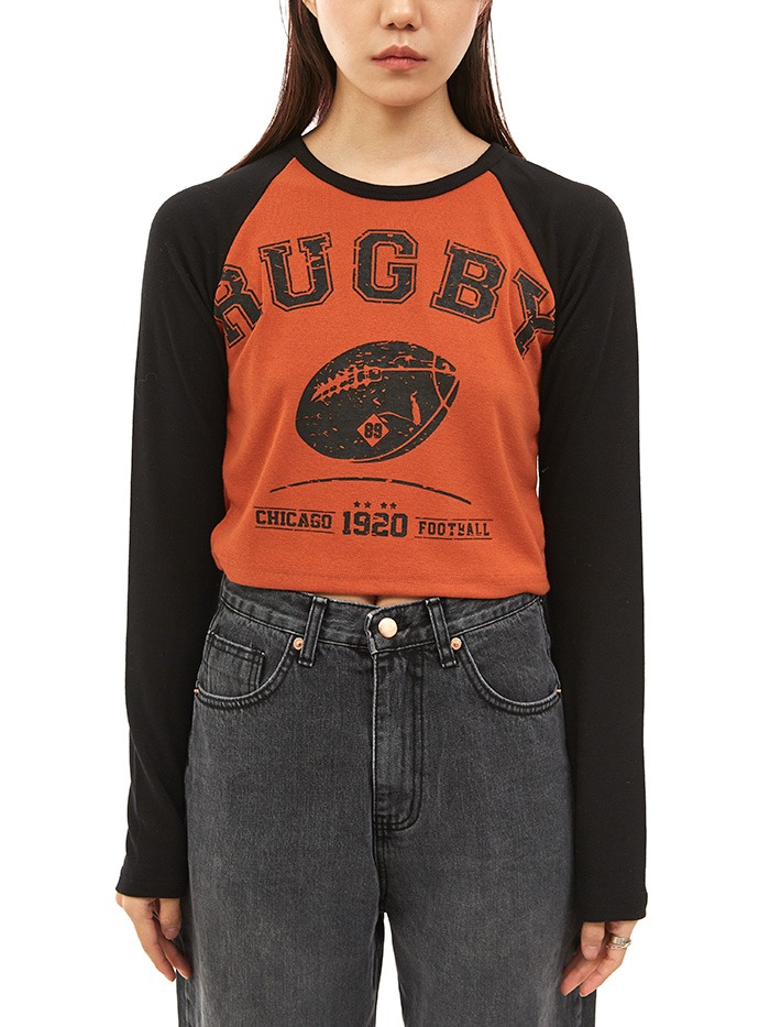 rugby crop T (3 color)