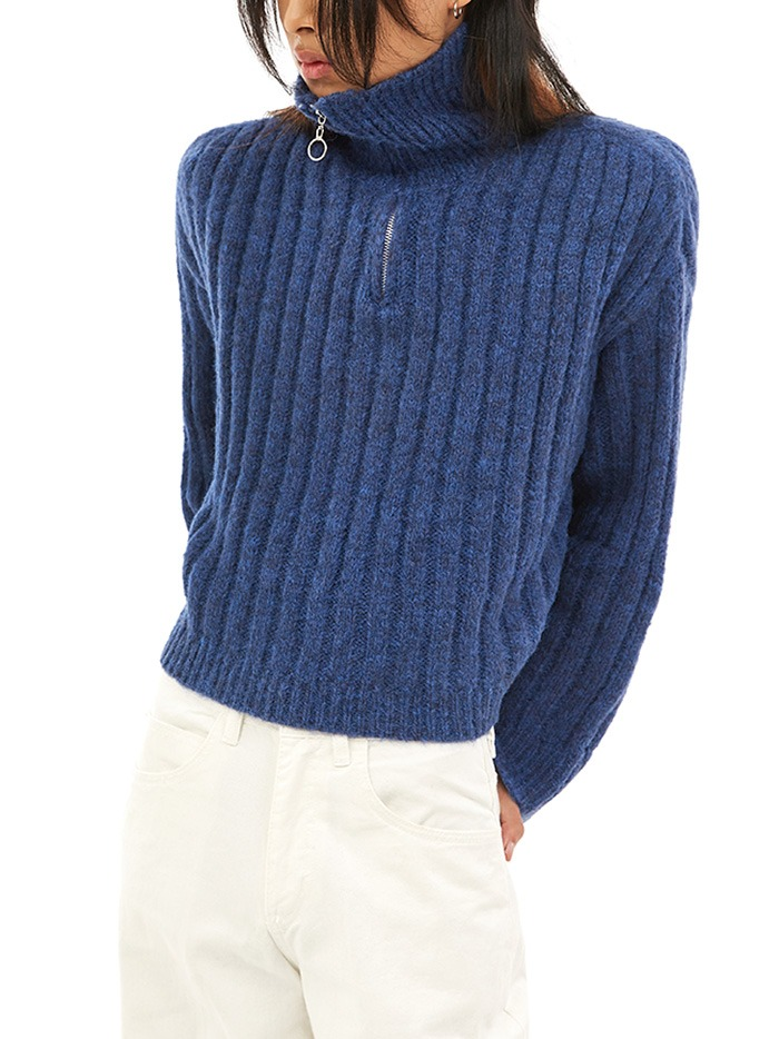 wool half zip-up knit (3 color)