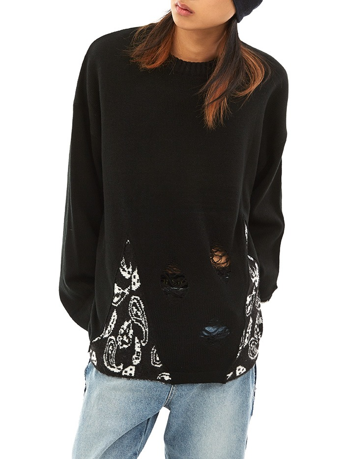 paisley damage knit (2 color)