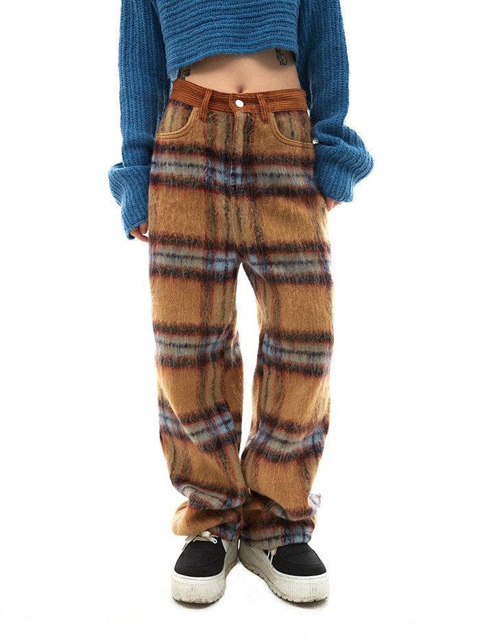 wool plaid pants (2 color)