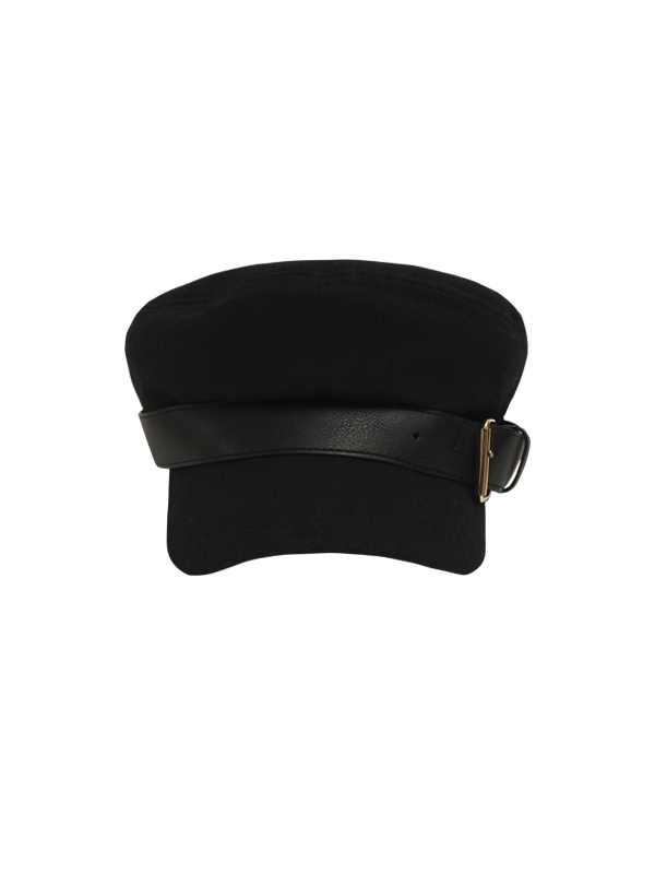 leather buckle newsboy cap (2 type)