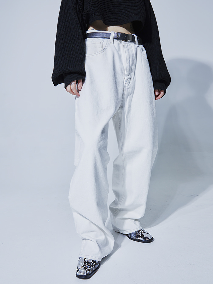 warm cotton wide pants (2 color)