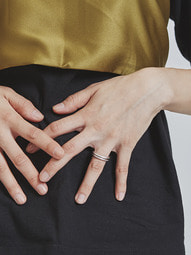 layered bumpy ring set (2 color)