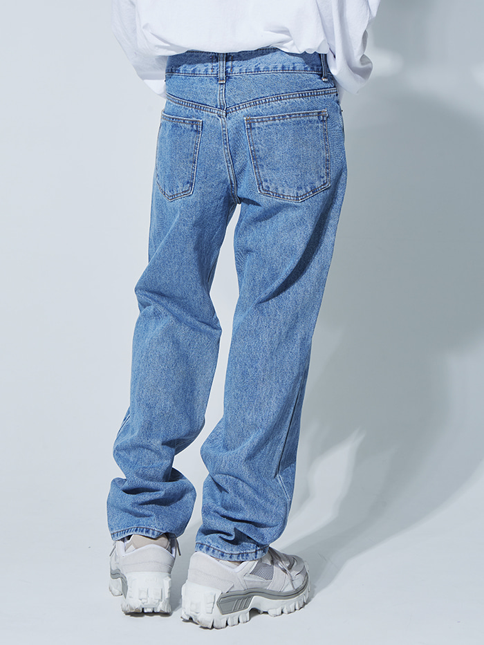 retro wide denim pants - UNISEX