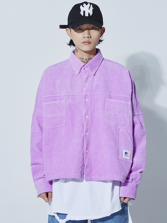 oversized pigment corduroy shirts (4 color) - UNISEX