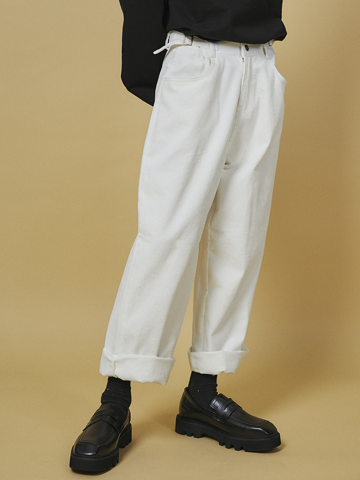 buckle corduroy pants (3 color) - UNISEX