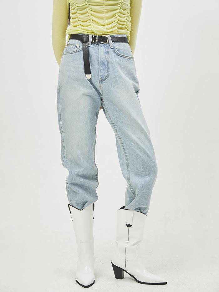 straight washing denim pants (2 color)