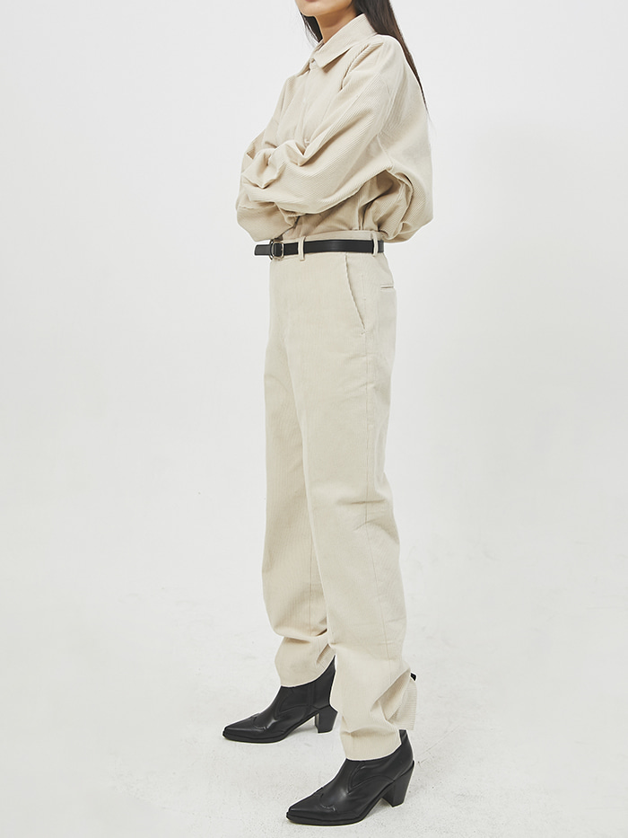 straight-fit corduroy slit pants (3 color) - UNISEX