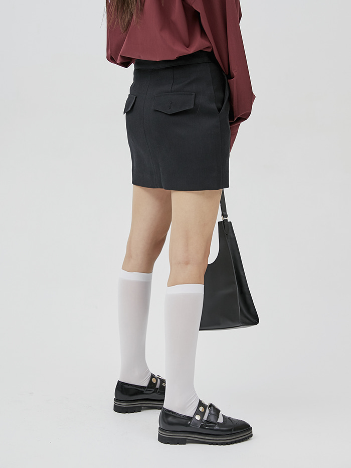 pocket mini skirt (3 color) - woman