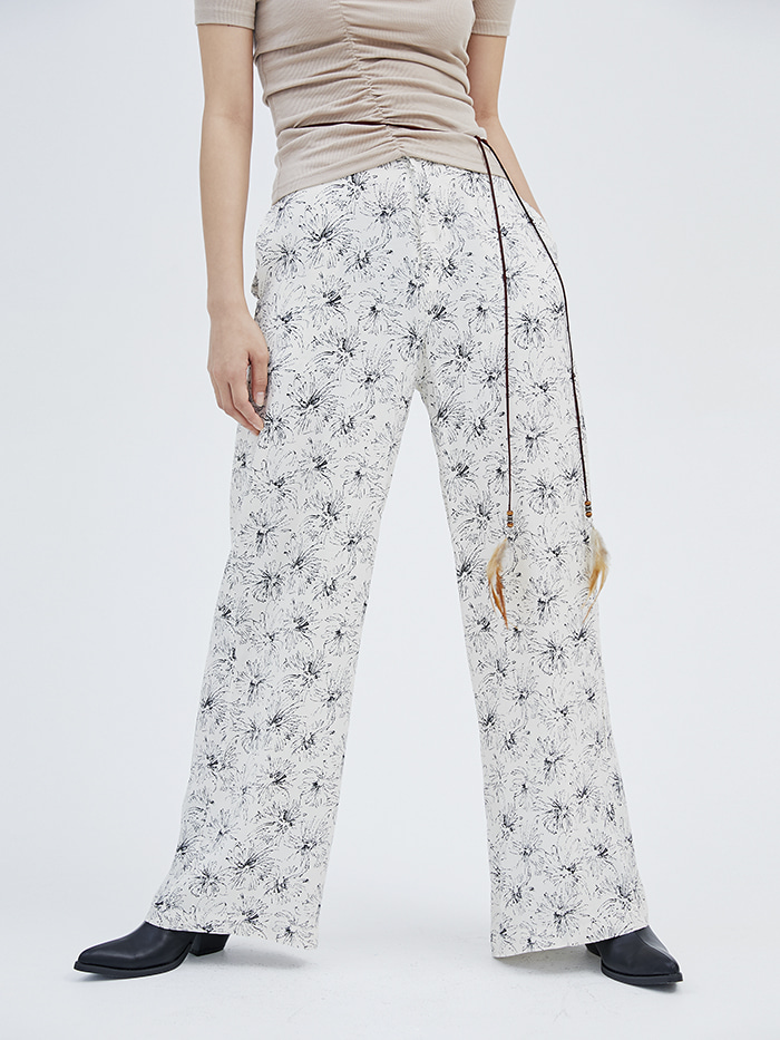 chrysanthemum wide pants (2 color) - woman