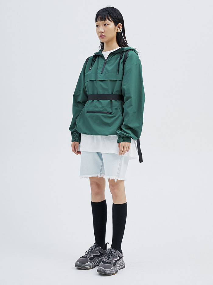 sporty hood anorak (2 color) - men