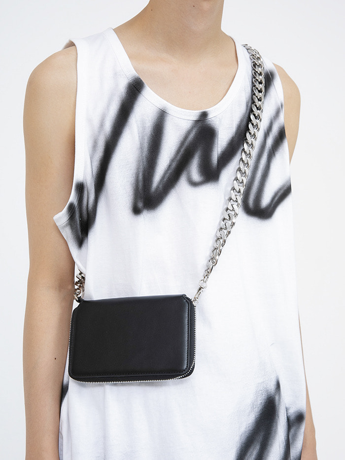 leather mini chain bag (2 color)