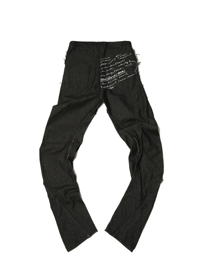 [ACIDTY] wrinkle denim pants (black)