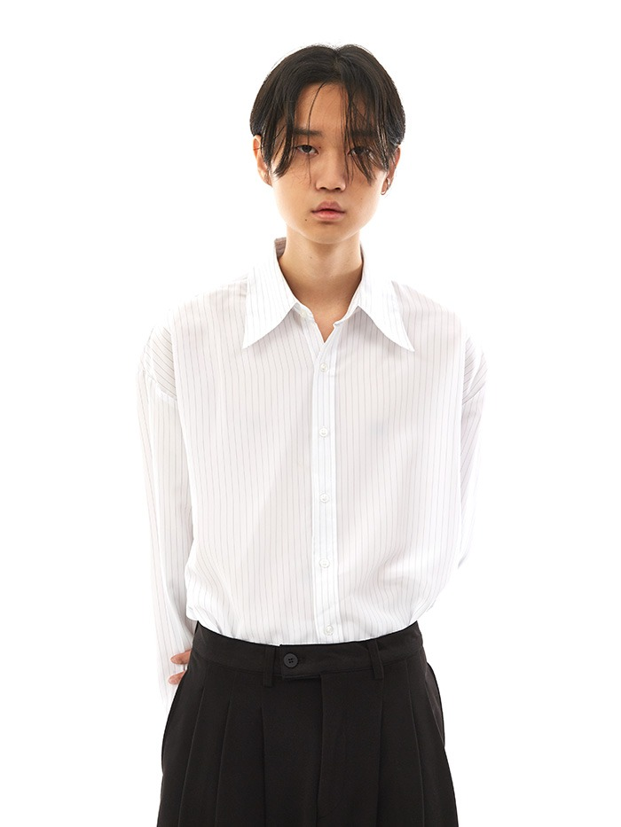 point cuffs stripe shirts (3 color)