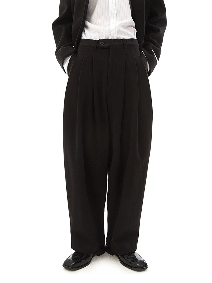 pintuck wide balloon slacks (3 color)