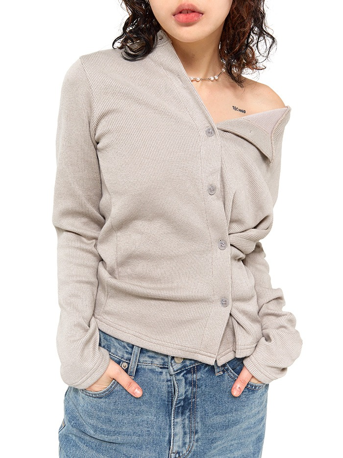 two-way wrap cardigan T (3 color)