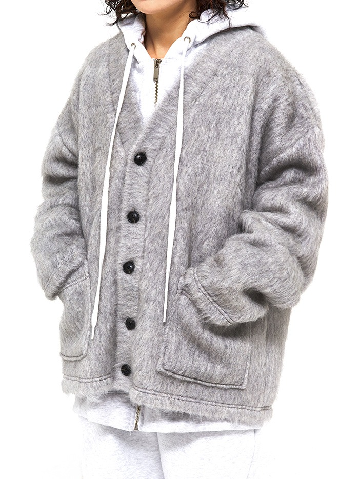 boy-fit wool cardigan (2 color)