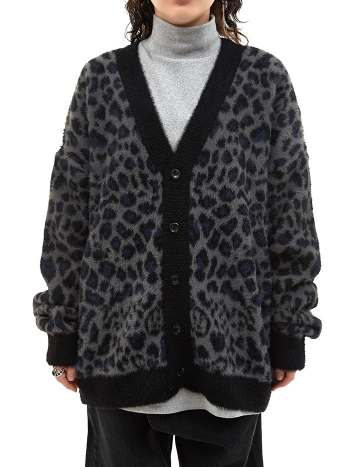 boy fit leopard cardigan